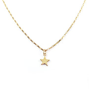Gold Star Carriage Necklace