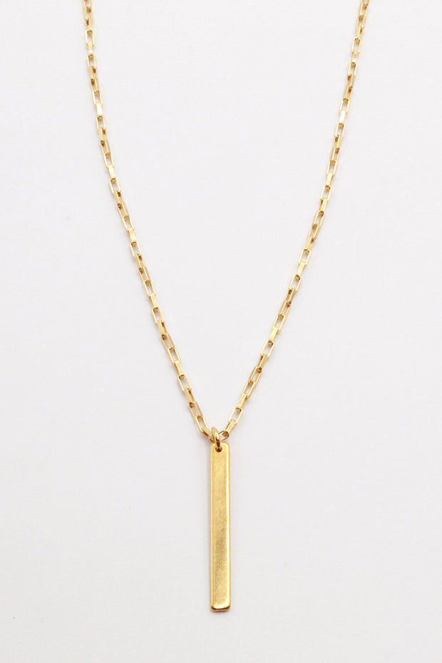 Carriage Bar Necklace