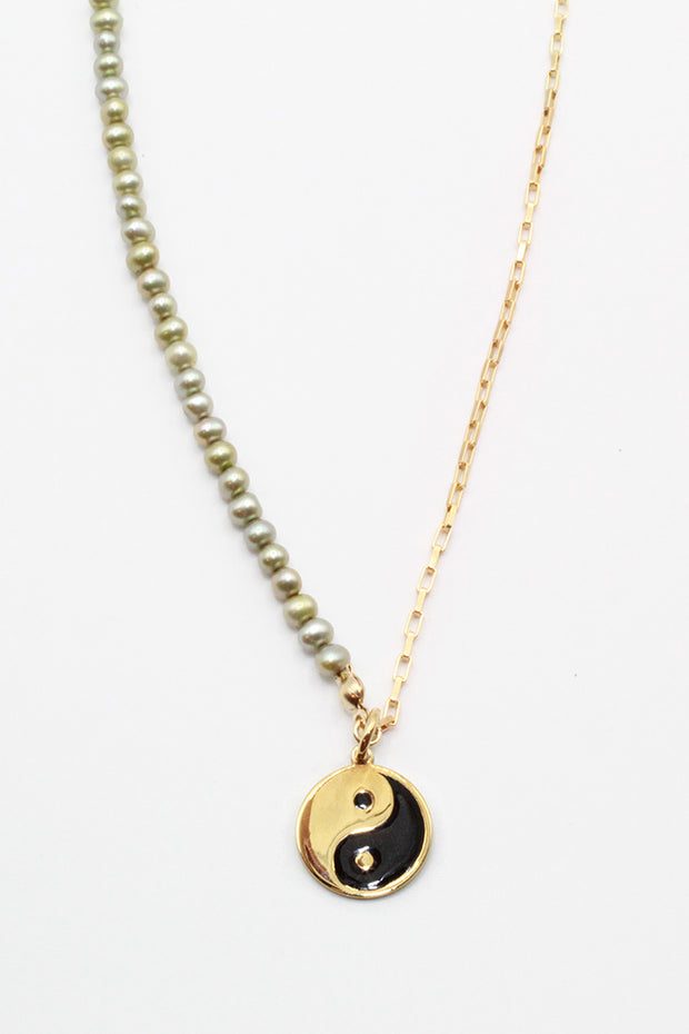 Sage Yin Yang Necklace