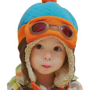 Cool Baby Winter Hat 4 Colors- Pilot style