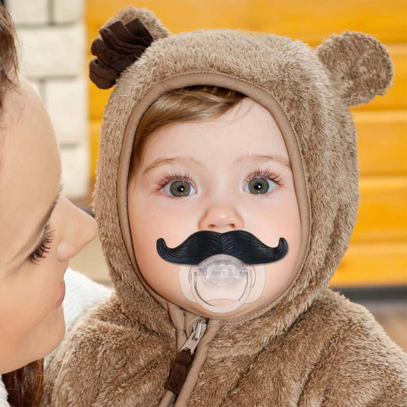 Funny and Cute Mustache Style Baby Pacifier