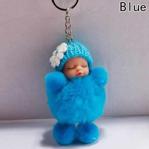 Adorable Sleeping Baby Doll Key Chain