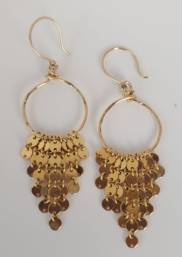 14k Gold-filled Chandelier earrings