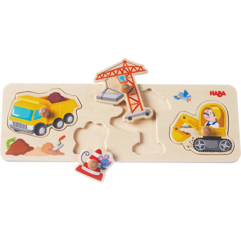 HABA - Building Site Clutching Puzzle - Wayfaring Baby