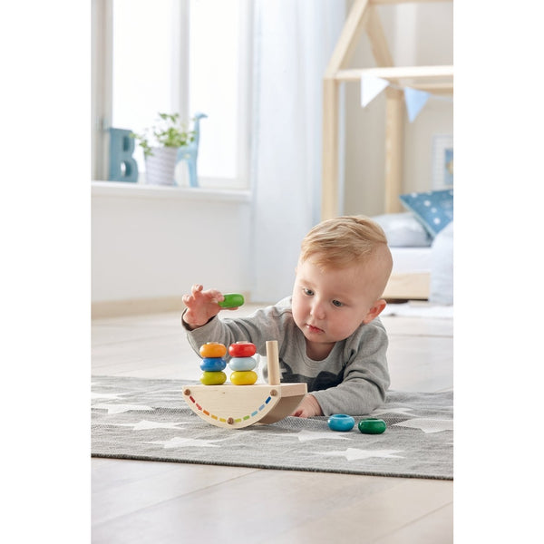 HABA - Rainbow Rocker Peg Game - Wayfaring Baby