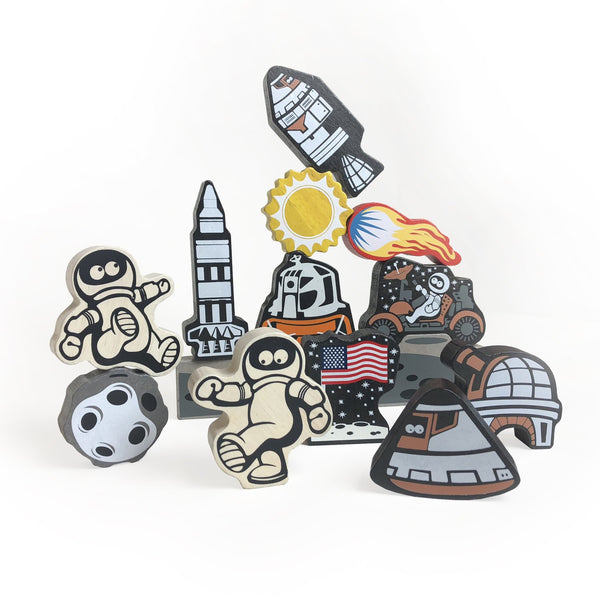 Begin Again - Lunar Landing Stacking Game + Play Set - Wayfaring Baby
