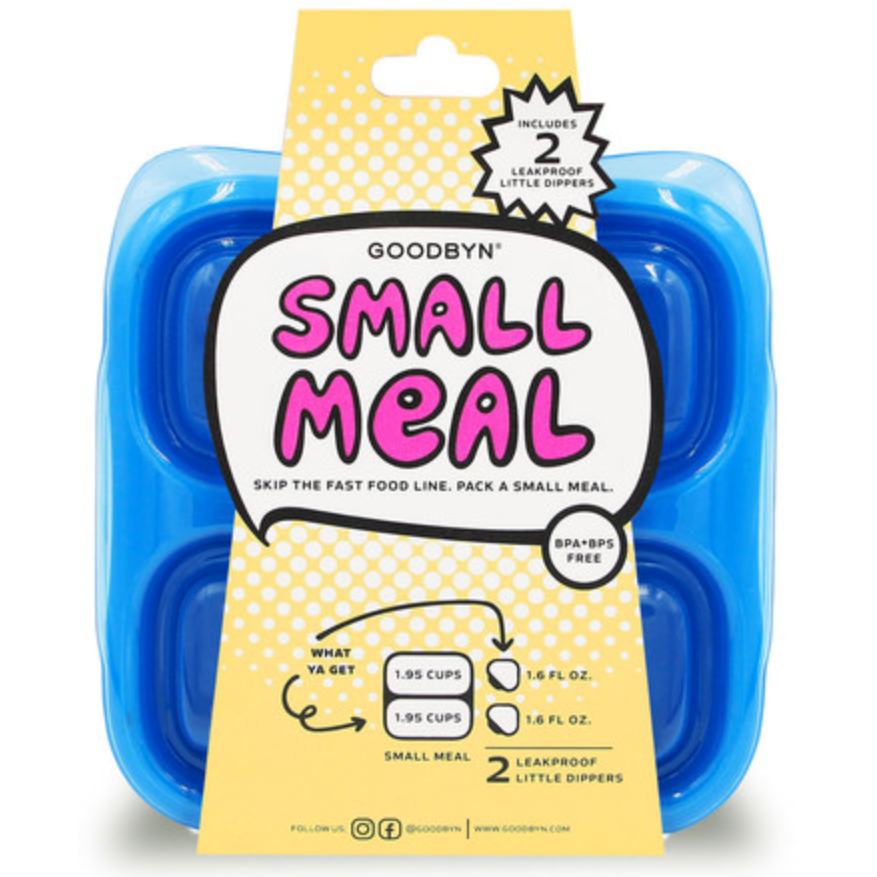 GoodByn - Small Meal + Leak Proof Dippers | Neon Blue - Wayfaring Baby