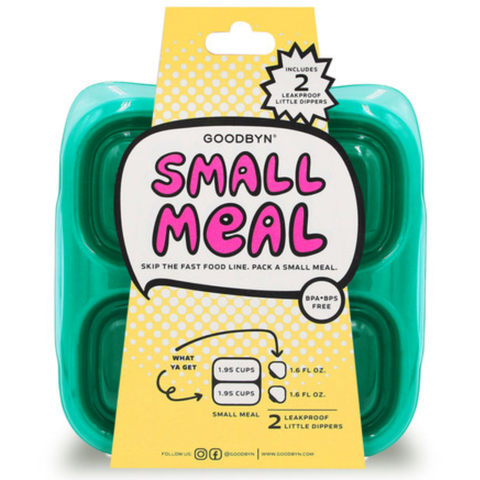 GoodByn - Small Meal + Leak Proof Dippers | Neon Aqua - Wayfaring Baby