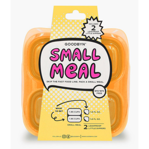 GoodByn - Small Meal + Leak Proof Dippers | Neon Orange - Wayfaring Baby