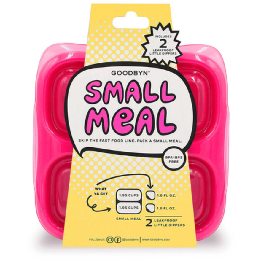 GoodByn - Small Meal + Leak Proof Dippers | Neon Pink - Wayfaring Baby