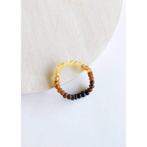 ADULT | Canyon Leaf - Raw Ombre Amber Bracelet - Wayfaring Baby