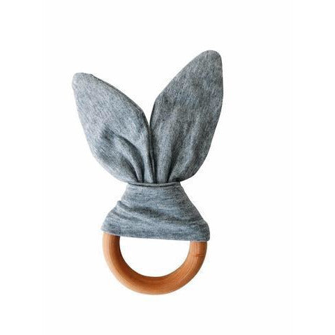 Chewable Charm - Crinkle Bunny Ears Teether - Wayfaring Baby