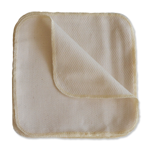 Geffen Birdseye Cotton Cloth Wipes (12 pk.) - Wayfaring Baby