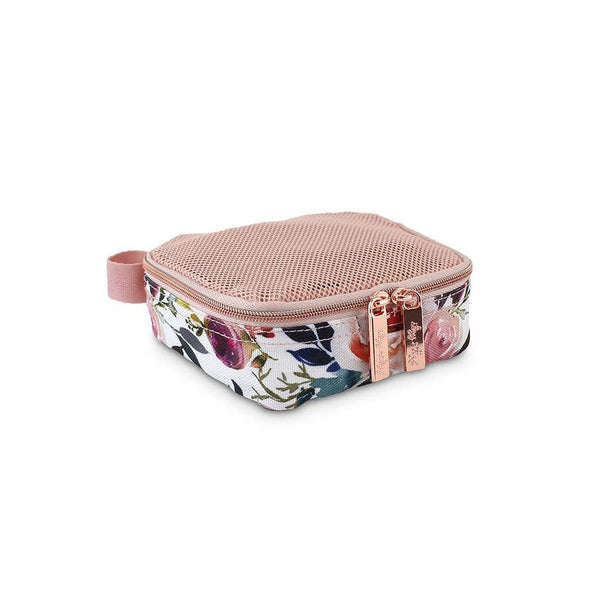 Itzy Ritzy - Pack Like a Boss Packing Cubes | Blush Floral - Wayfaring Baby