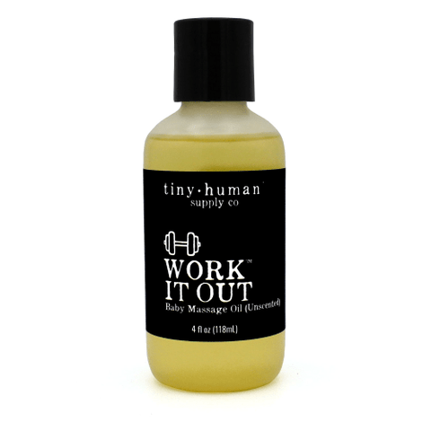 Tiny Human Supply Co. Work it Out™ Baby Massage Oil - Wayfaring Baby