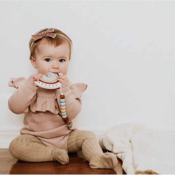 Pretty Please Boutique Rainbow Teether & Clip - Wayfaring Baby