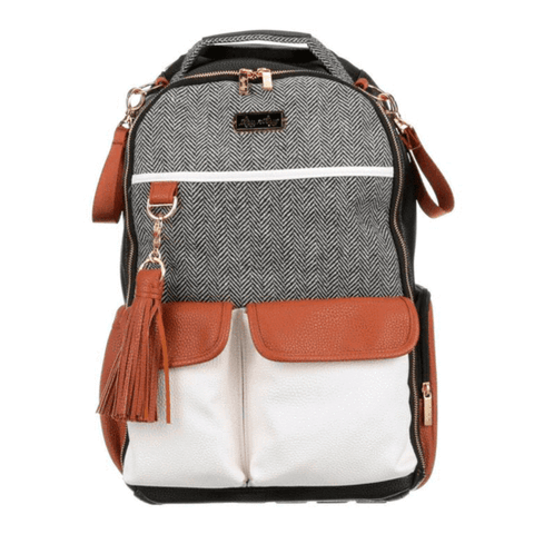 Itzy Ritzy - Boss Diaper Bag Backpack | Coffee + Cream - Wayfaring Baby