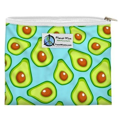 Planet Wise Zipper Reusable Sandwich Bag - Wayfaring Baby