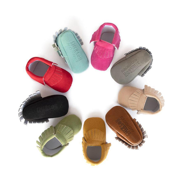 Emerson & Friends Fringe Baby Moccasins - Wayfaring Baby