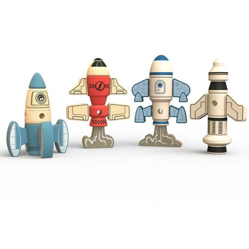 Begin Again - Tinker Totter Rockets Construction + Character Set - Wayfaring Baby