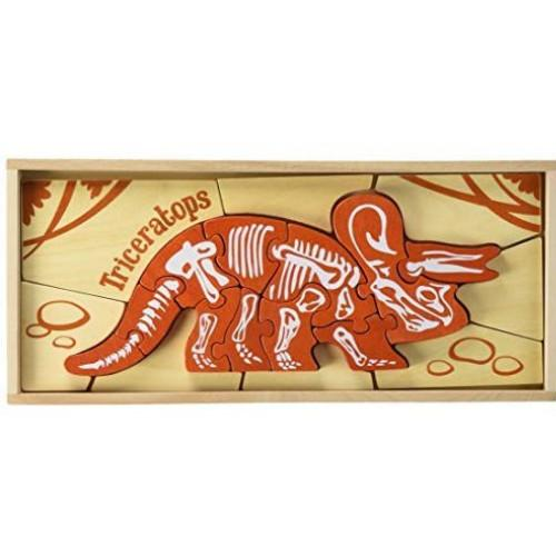 Begin Again - Triceratops Skeleton Puzzle