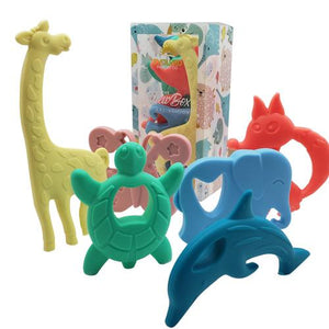 Evolved Parent Co. - Chew Box | Animal Edition - 6 PC. Silicone Teether - Wayfaring Baby