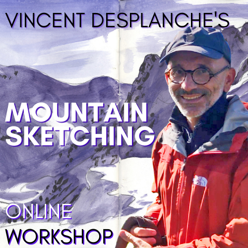 Vincent Desplanche's Mountain Sketching online workshop