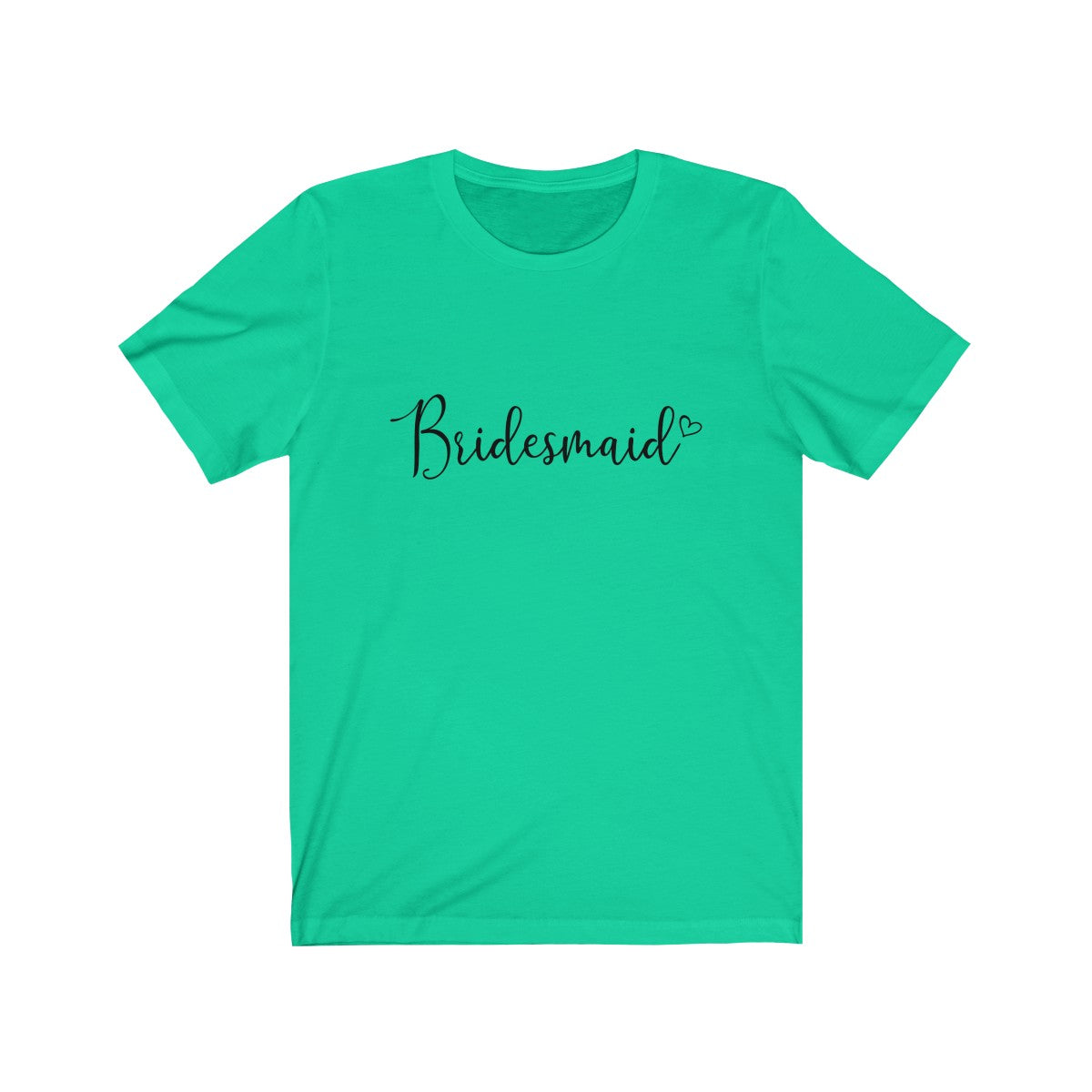 Tee Bridesmaid Heart white lettering - elrileygifts