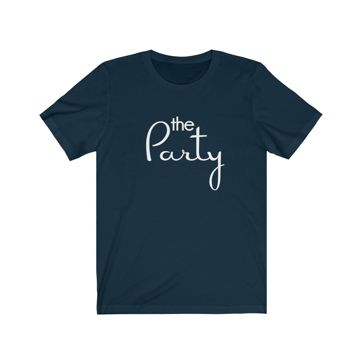 The Party White Print Short Sleeve Tee - elrileygifts