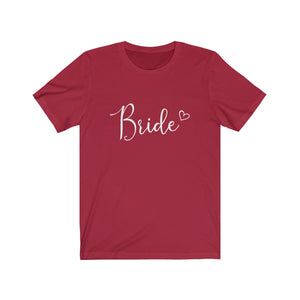 Tee Bride Heart white lettering - elrileygifts