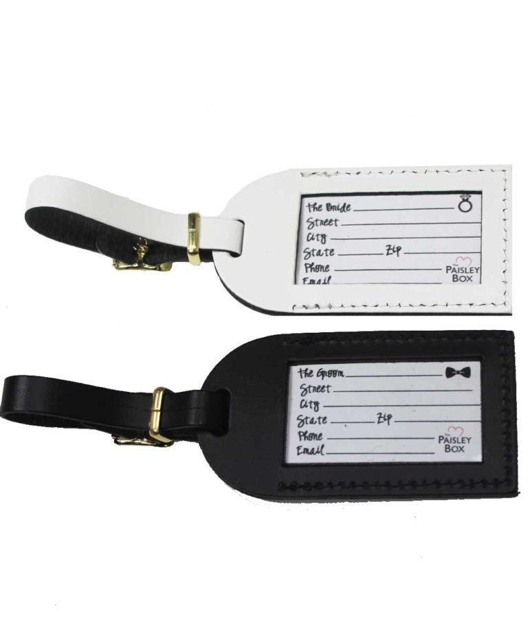 Bride & Groom Luggage Tag - elrileygifts