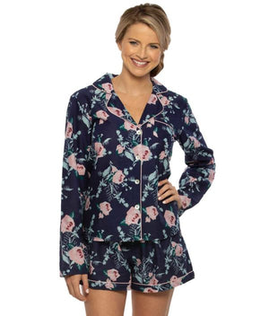 COTTON FLORAL LONG SLEEVE PJ - elrileygifts
