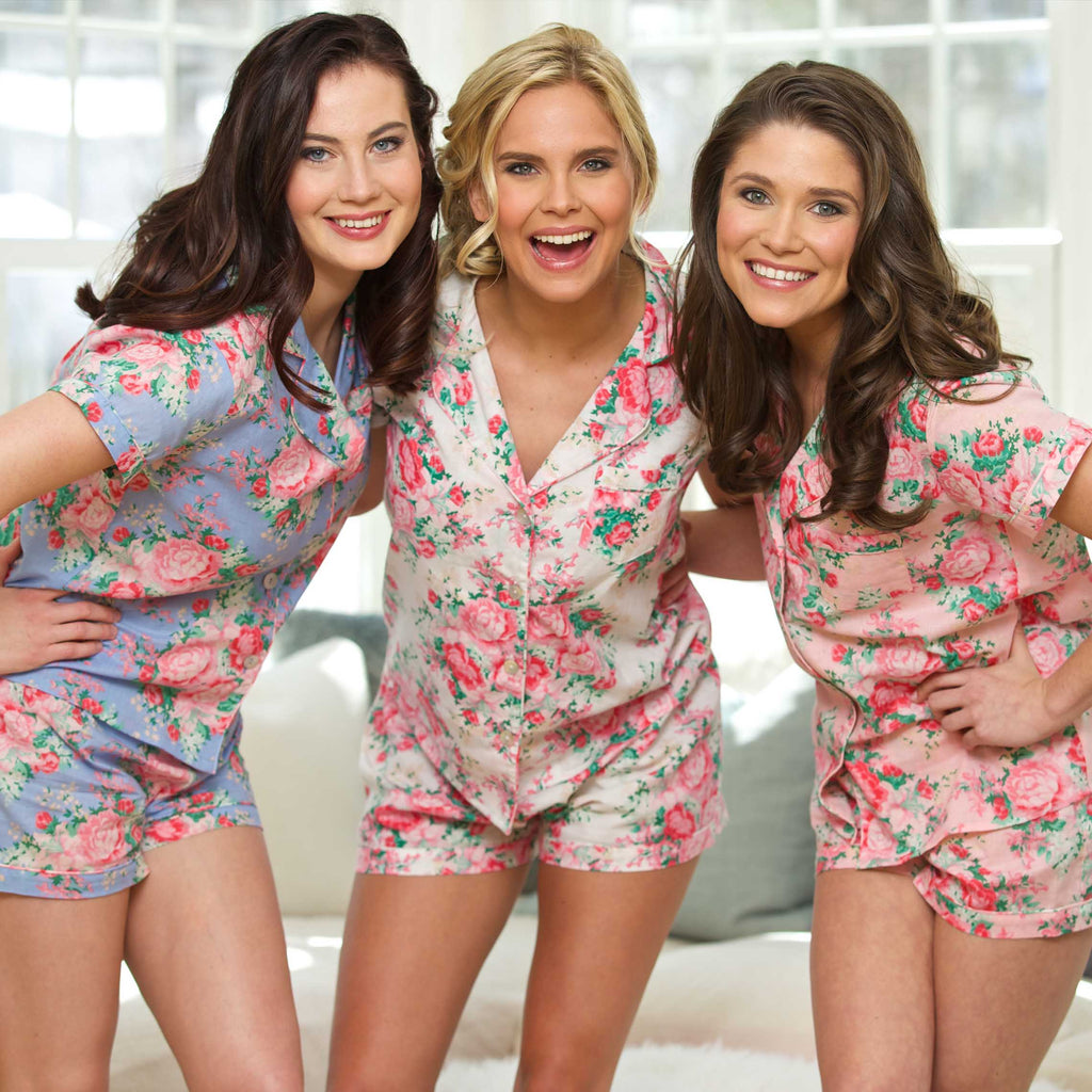 Cotton Floral Pajama Set - elrileygifts