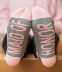 Maid of Honor Socks - elrileygifts