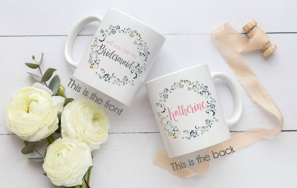 Will You Be My Bridesmaid Personalized Gift Mug Maid Of Honor Gift F