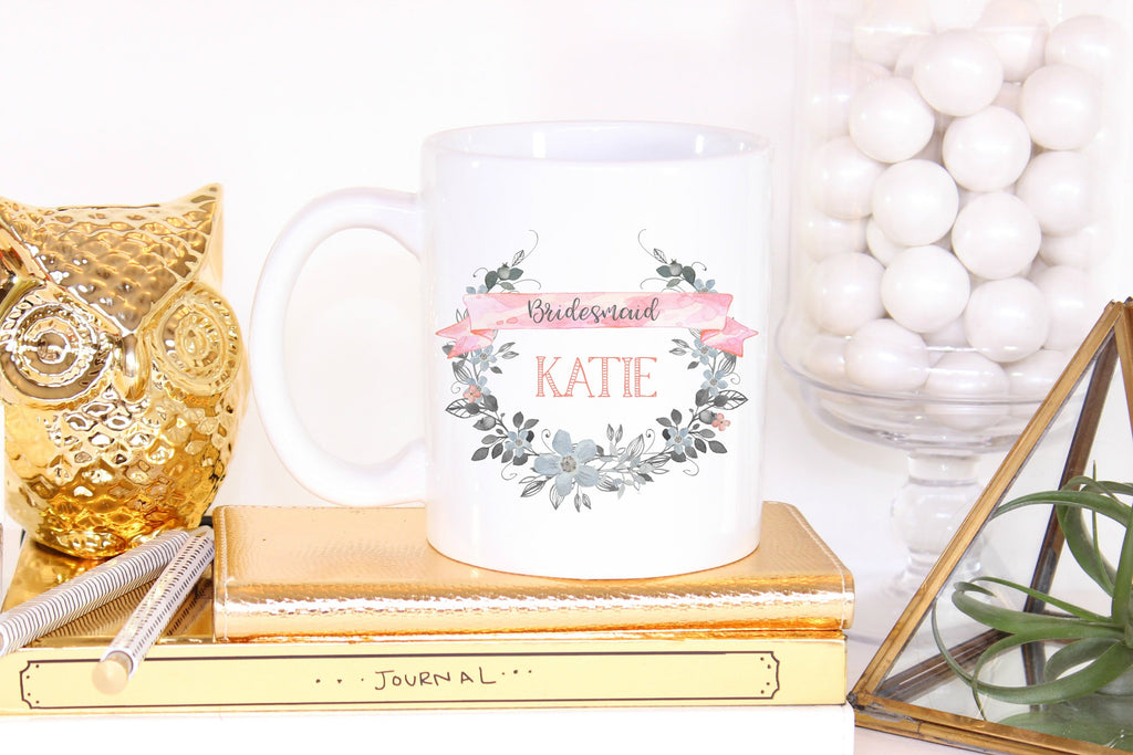 Bridesmaid Gift Mug, Gift Coffee Mug for Bridal Party, Bridesmaid Tea Cup, Maid of Honor Gift, Mother of the Bride Cup, Wedding Party Gift - elrileygifts