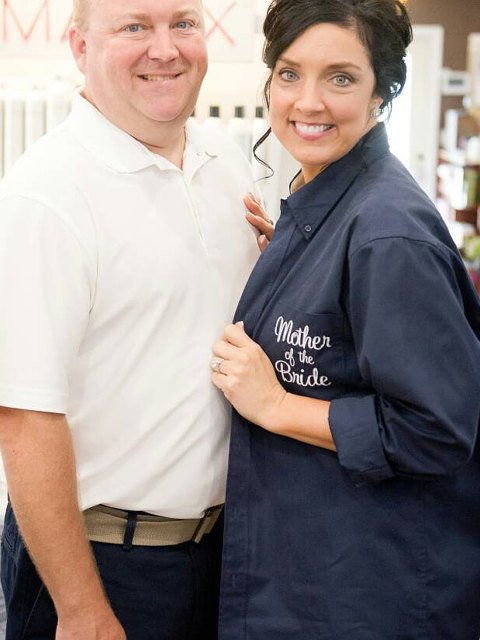 Mother of the Bride Shirt, Mother of the Groom Gift, Monogram Shirt, Bridal Party Shirt, Button Down Shirt, Bridesmaid Gift, Getting Ready - elrileygifts