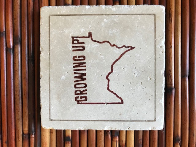 Growing up Minnesota Ceramic Trivet