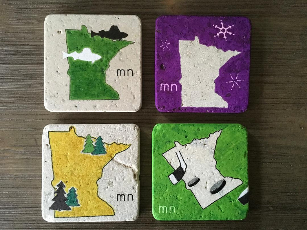 Minnesota Outdoors Coaster Set