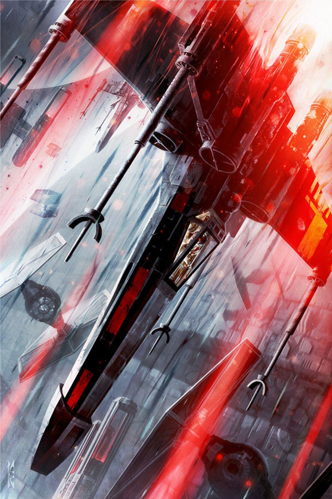 Star Wars - The Final Strike by Raymond Swanland; giclee art on canvas