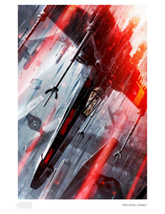 Star Wars - The Final Strike by Raymond Swanland; giclee art on paper