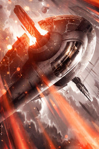 Star Wars - Haunting the Clouds by Raymond Swanland; giclee limited edition art on canvas
