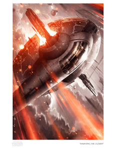 Star Wars - Haunting the Clouds by Raymond Swanland; giclee limited edition art on paper