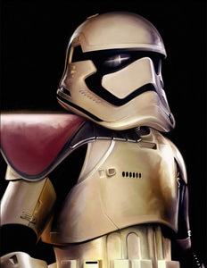 Star Wars The Force Awakens - First Order Trooper by Brian Rood; giclee limited edition art on canvas