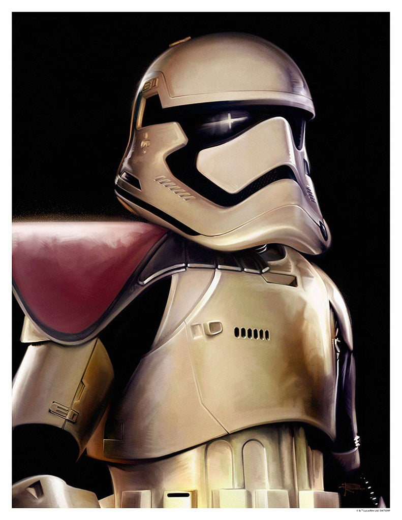 Star Wars The Force Awakens - First Order Trooper by Brian Rood; giclee limited edition art on paper