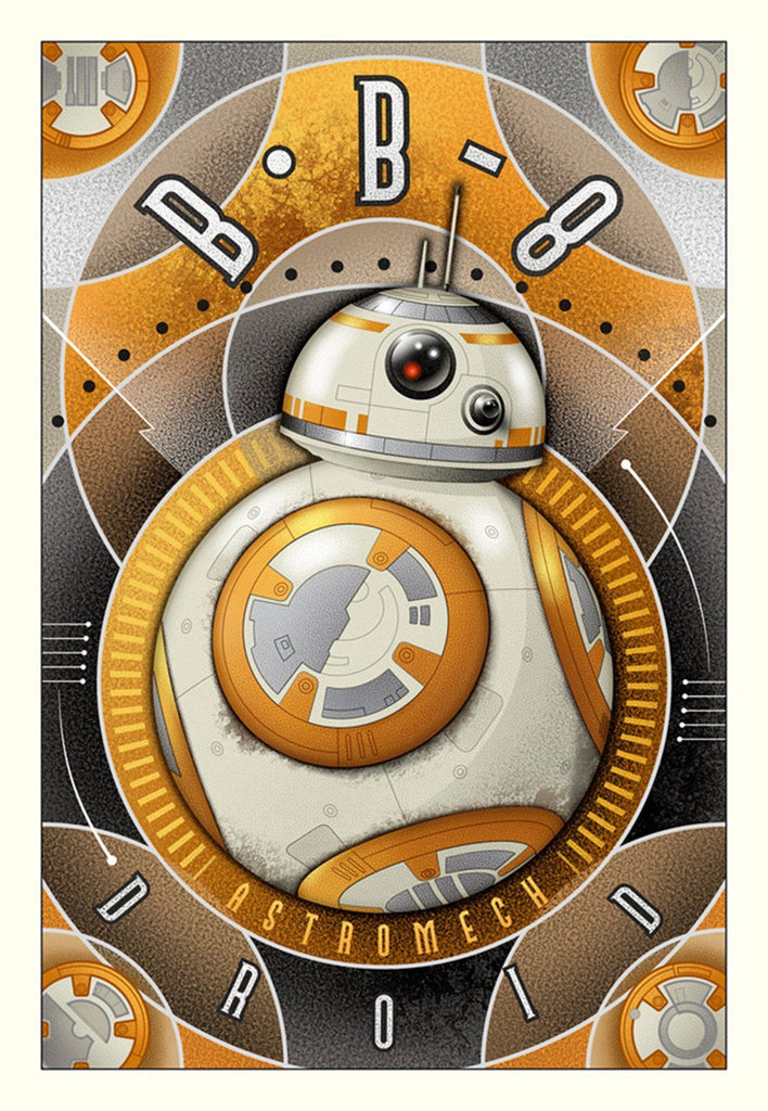 BB-8 Astromech Droid - Canvas Small