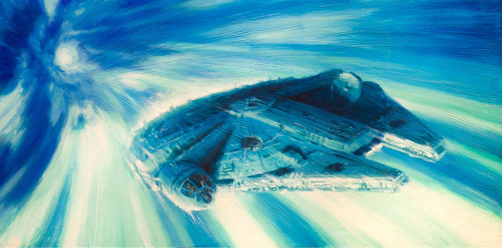 Star Wars - Millenium Falcon in Hyperspace by Christopher Clark giclee limited edition art on canvas