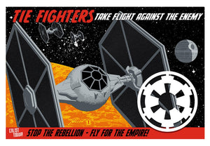 Star Wars - Fly for the Empire by Brian Miller; silk screen limited edition art on paper