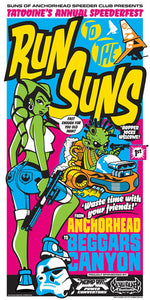 Star Wars - Run to the Suns by Mark Daniels; silk screen art on paper