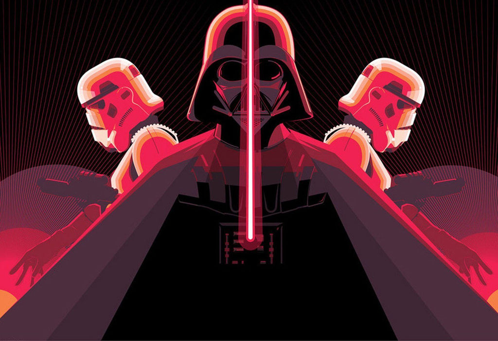 Star Wars  - Imperial Trifecta by Craig Drake; silk screen edition art on paper